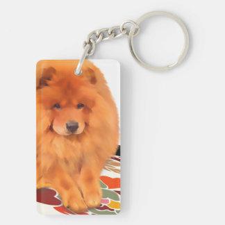 CASEY heARTdog chow Keychain