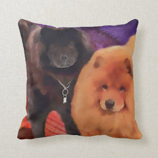 CASEY & SASHA heARTdog chow Throw Pillow