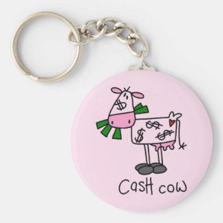 Cash Cow Tshirts and Gifts Basic Round Button Keychain