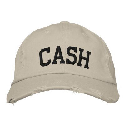 Cash Embroidered Hat