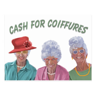 Cash For Coiffures Postcard
