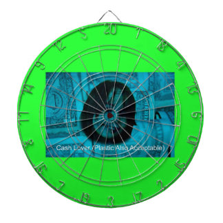 Cash Lover (Plastic Also Acceptable) Money Face Dartboard With Darts