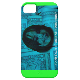 Cash Lover (Plastic Also Acceptable) Money Face iPhone 5 Case