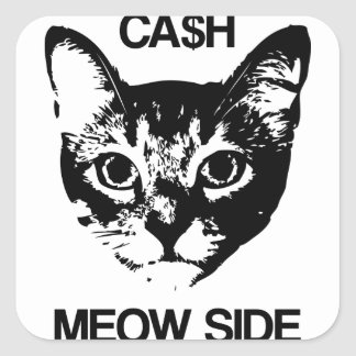 CASH MEOW SIDE SQUARE STICKER