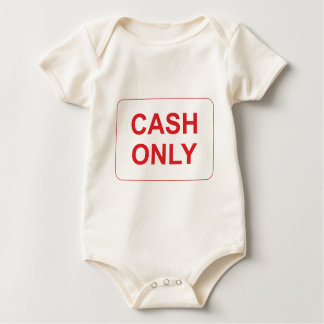 Cash Only Sign Baby Bodysuit