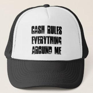 Cash Rules Snapback Blk/Wht Trucker Hat
