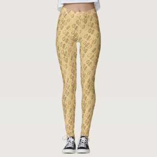Cashew Almond Peanut Nuts Snack Food Leggings