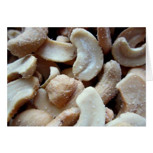 Cashew nuts card