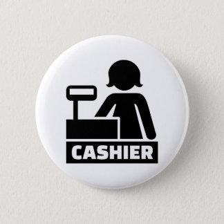 Cashier 2 Inch Round Button
