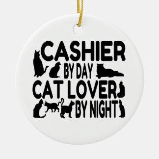 Cashier Cat Lover Ceramic Ornament