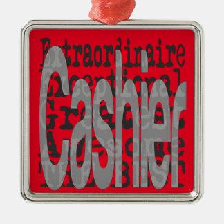 Cashier Extraordinaire Metal Ornament