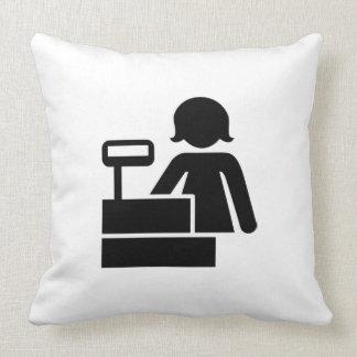 Cashier Throw Pillow