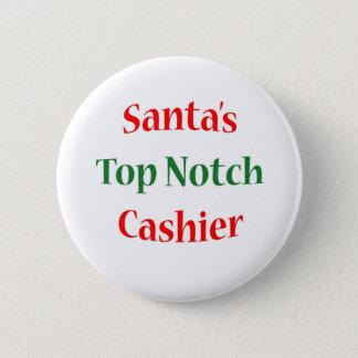 Cashier Top Notch 2 Inch Round Button