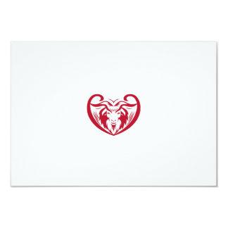 Cashmere Goat Head Retro Card