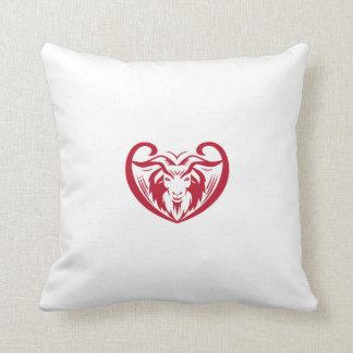 Cashmere Goat Head Retro Throw Pillow