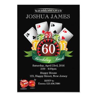 Casino 60th Birthday Invitation - any age