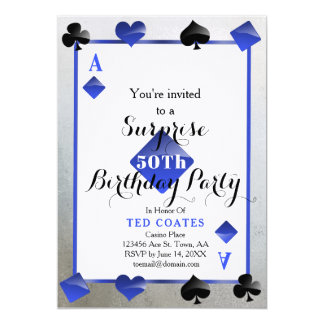 casino birthday surprise invitation