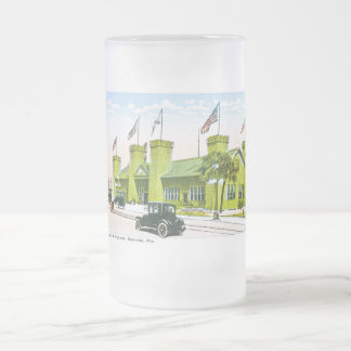 Casino Burgoyne, Daytona, Florida Frosted Glass Beer Mug