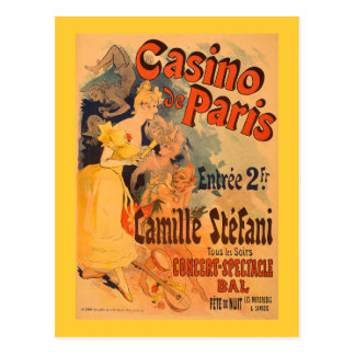 Casino de Paris Vintage Art Poster Postcard