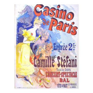Casino de Paris Vintage Postcard
