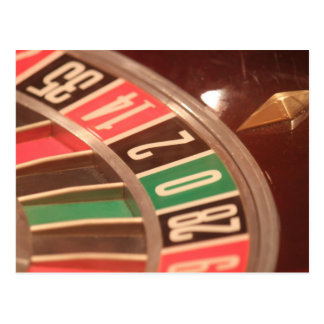 Casino Gambling Roulette Wheel Vintage Retro Style Postcard