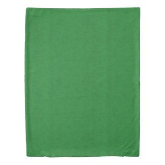 Casino Green Color Velvet Look Duvet Cover