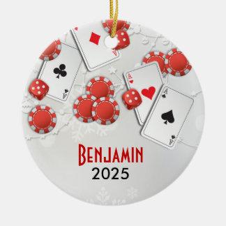 Casino Holiday Ceramic Ornament