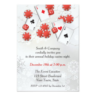 Casino Holiday Invitation