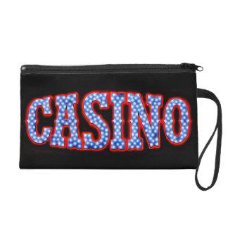 Casino in Red White & Blue Wristlet