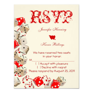 Casino Las Vegas Wedding RSVP Card