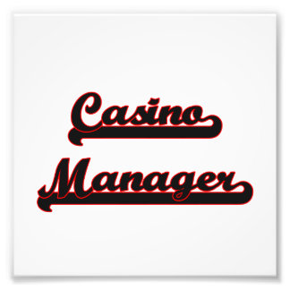 Casino Manager Classic Job Design Photo Art
