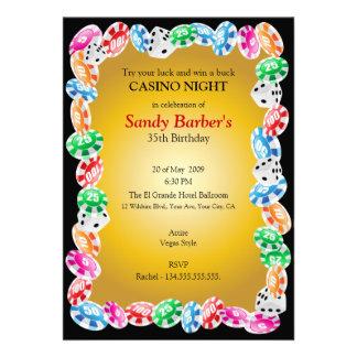 Casino Night Birthday Party Invitation Template