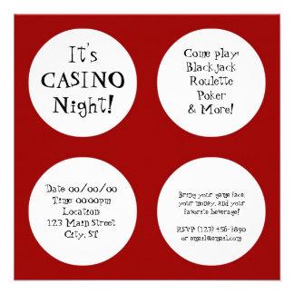 Casino Night Personalized Announcement