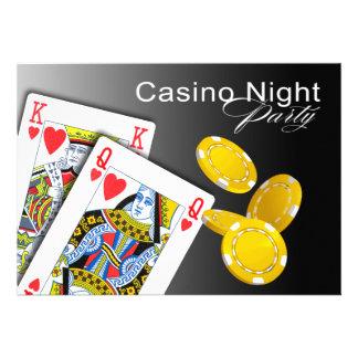 Casino Night Las Vegas Poker Party - black Custom Announcements