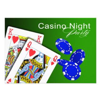 Casino Night Las Vegas Poker Party - green Custom Announcements