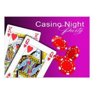 Casino Night Las Vegas Poker Party - purple Invitations