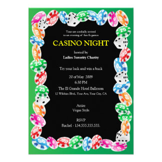 Casino Night Party Invitation Template
