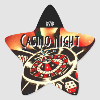 Casino Night Party star rsvp Star Sticker