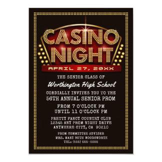 Casino Night Party Themed Prom Invitations