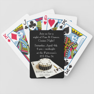 Casino Night Playing card invitations