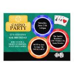 """Casino Party Invitation 5"""" X 7"""" Invitation Card"""