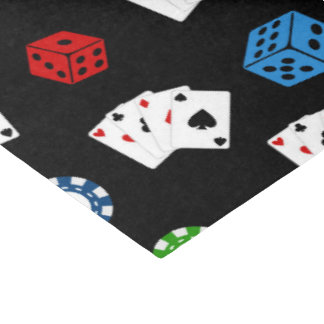 Casino party pattern Gambling tissue paper