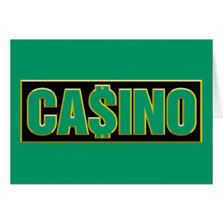 Casino - Play To Win - Gamble Stationery Note Card