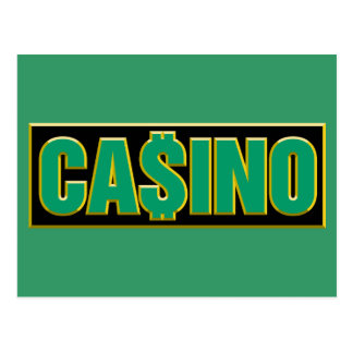 Casino - Play To Win - Gamble Post Cards