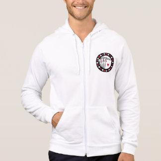 Casino poker aces hoodie