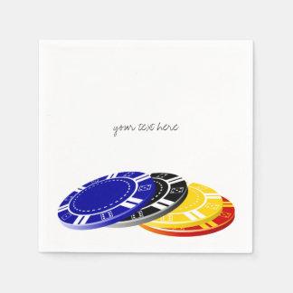 Casino Poker Chips Paper Napkins Set