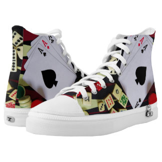 Casino poker gambling and ace of spades high tops
