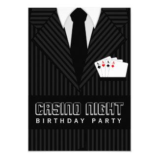 Casino Poker Night Birthday Party Custom Invites