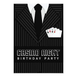 Casino Poker Night Birthday Party Custom Invites Custom Announcements