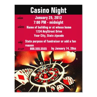 Casino Poker Night  Party Card